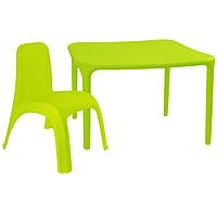 Детский стол для творчества + стул Салатовый 18-100-03, КОД: 1130254