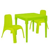 Детский стол для творчества + 2 стула Салатовый 18-100-24, КОД: 1130277