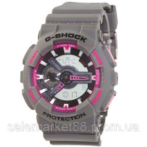 Casio G-Shock AAA GA-110 Gray-Pink Autolight