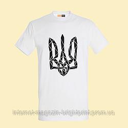 """Чоловіча футболка з принтом """"Тризуб"""""""