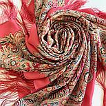Великолепный век 1867-3, павлопосадский платок (шаль, крепдешин) шелковый с шелковой бахромой, фото 6
