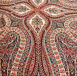 Великолепный век 1867-3, павлопосадский платок (шаль, крепдешин) шелковый с шелковой бахромой, фото 7
