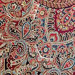 Великолепный век 1867-3, павлопосадский платок (шаль, крепдешин) шелковый с шелковой бахромой, фото 9