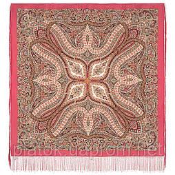 Чудовий століття 1867-3, павлопосадский платок шовковий (крепдешиновый) з шовковою бахромою