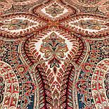 Великолепный век 1867-3, павлопосадский платок (шаль, крепдешин) шелковый с шелковой бахромой, фото 2