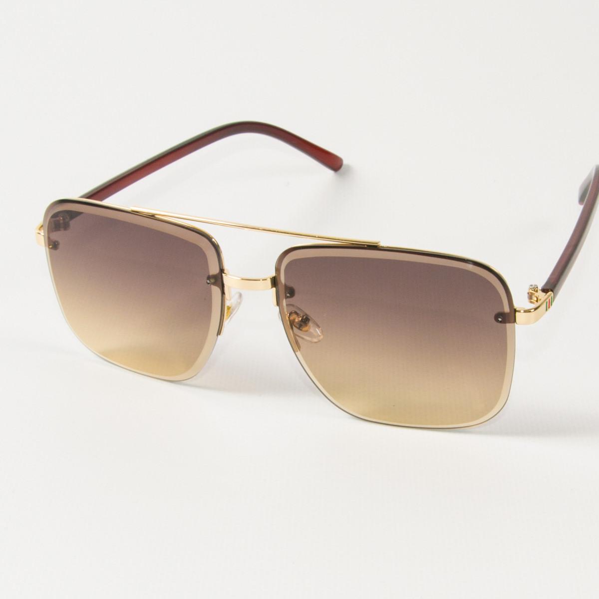 Оптом женские квадратные солнцезащитные очки  (арт. 6278/5) коричневые
