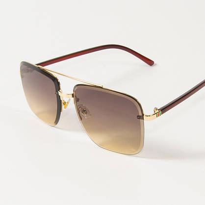 Оптом женские квадратные солнцезащитные очки  (арт. 6278/5) коричневые, фото 3