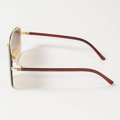 Оптом женские квадратные солнцезащитные очки  (арт. 6278/5) коричневые, фото 2