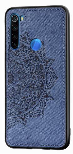 Wolfru чехол тканевый противоударный Xiaomi Redmi Note 8T с площадкой под магнитный держатель Цвет синий