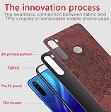 Wolfru чехол тканевый противоударный Xiaomi Redmi Note 8T с площадкой под магнитный держатель Цвет синий, фото 3