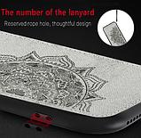 Wolfru чехол тканевый противоударный Xiaomi Redmi Note 8T с площадкой под магнитный держатель Цвет синий, фото 4