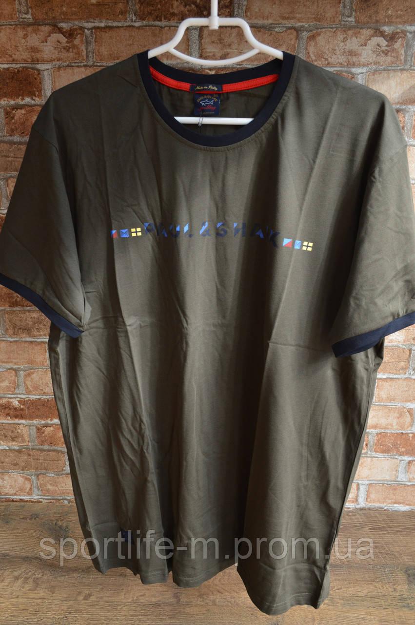 5005-Мужская футболка Paul Shark увеличенного размера-2020