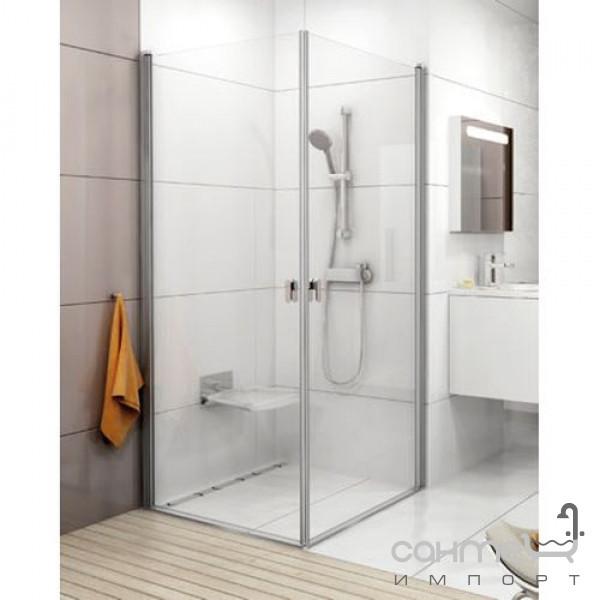 Душевые кабины, двери и шторки для ванн Ravak Душевая дверь Ravak Chrome CRV1 100 профиль алюминий, прозрачное