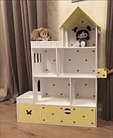 Кукольный домик из безопасных материалов, детский домик, ляльковий будиночок, домик для барби