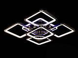 Стельова люстра з діммером і LED підсвічуванням, колір чорний хром, 150W, фото 4