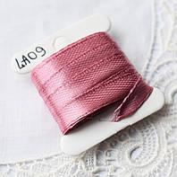 Лента атласная 6 мм, 4 м, розовая