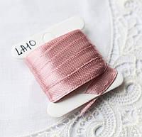 Лента атласная 6 мм, 4 м, пыльно-розовая