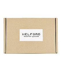 Бумажник мужской из кожи черный ручной работы HELFORD Корби blk (1132517851), фото 3