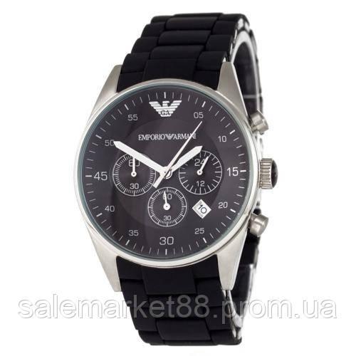 Emporio Armani AR-5905 Silver-Black Silicone