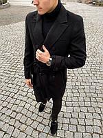 Пальто мужское двубортное весеннее-осеннее President  X black ЛЮКС качества