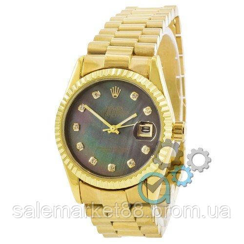 Rolex Date Just Gold-Green Pearl