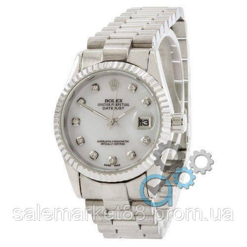Rolex Date Just Silver-White Pearl