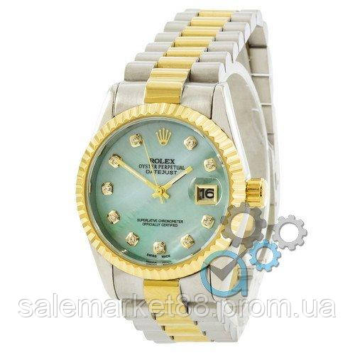 Rolex Date Just Silver-Gold-Turquoise Pearl