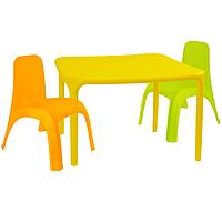 Детский стол для творчества + 2 стула Разноцветные 18-100-08, КОД: 1130260