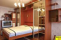 Подьемная кровать,встроенная в шкаф у гостиную комнату, фото 1