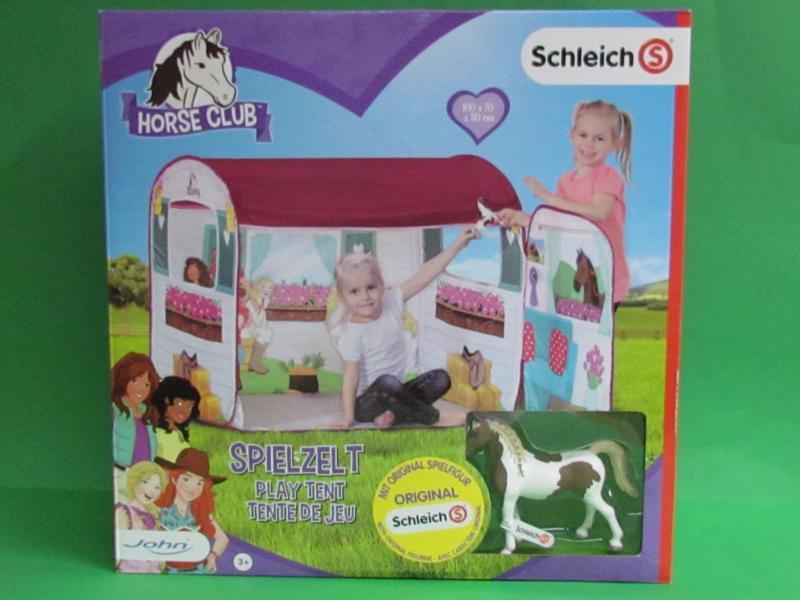 Палатка для девочек Конный клуб SCHLEICH с лошадью Шлейх, JOHN 77012