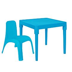 Детский стол для творчества + стул Голубой 18-100-21, КОД: 1130274