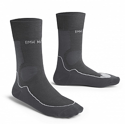 Оригинальные носки BMW Motorrad Summer Functional Socks, Unisex, Anthracite / Black, артикул 76248395461