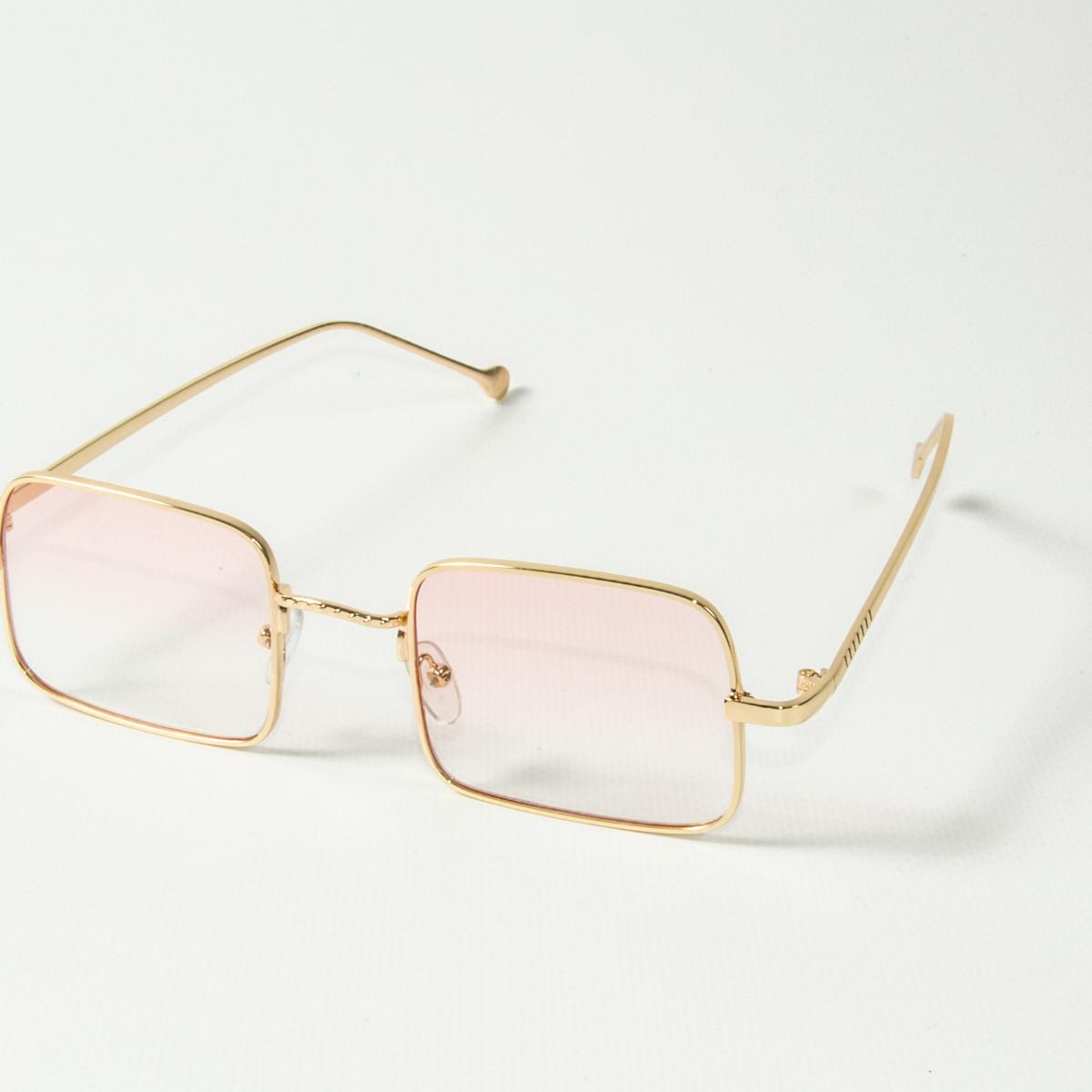 Оптом квадратные очки ретро-модель, полупрозрачные (арт. 10-6297/1) розовые