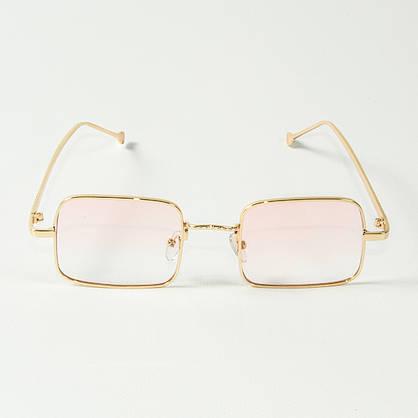 Оптом квадратные очки ретро-модель, полупрозрачные (арт. 10-6297/1) розовые, фото 2