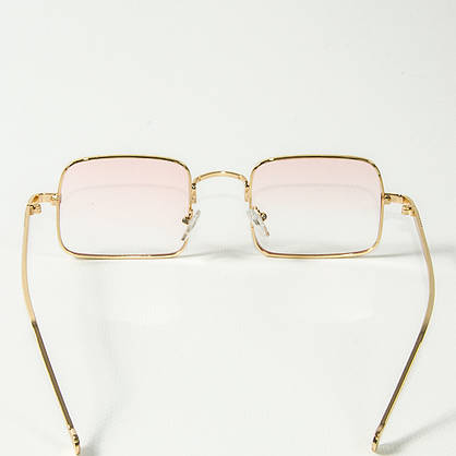 Оптом квадратные очки ретро-модель, полупрозрачные (арт. 10-6297/1) розовые, фото 3