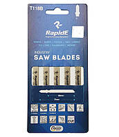 Полотна для электролобзика по металлу, 5 шт., Rapide (T118B)