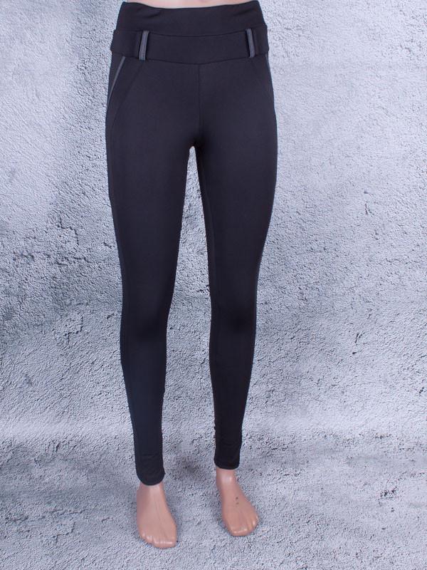 Лосины, Леггинсы женские с шлёвками для пояса (чёрный, серый)