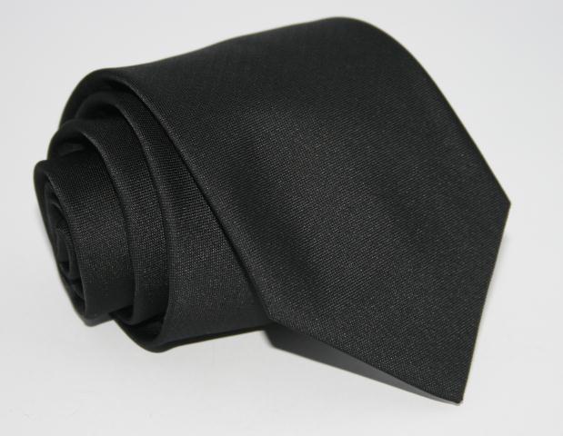 Галстук однотонный черный 8,5 см.