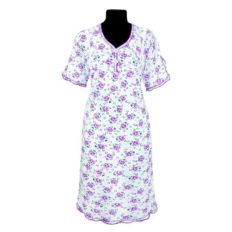 Ночная рубашка с набивного кулира. Оптом и в розницу