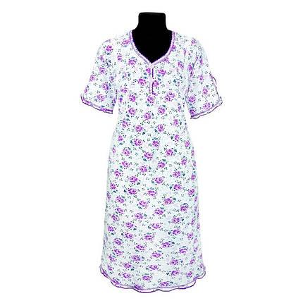 Ночная рубашка с набивного кулира. Оптом и в розницу, фото 2