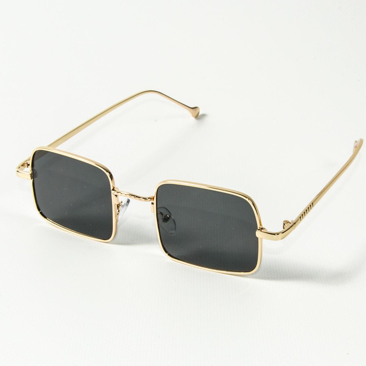 Оптом квадратные солнцезащитные очки ретро-модель (арт. 10-6297/2) черные