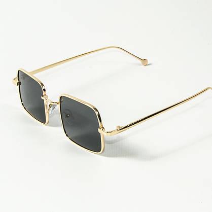 Оптом квадратные солнцезащитные очки ретро-модель (арт. 10-6297/2) черные, фото 3