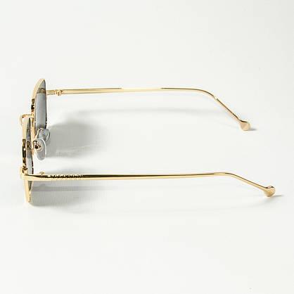 Оптом квадратные солнцезащитные очки ретро-модель (арт. 10-6297/2) черные, фото 2