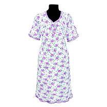 Ночная рубашка с набивного кулира. Оптом и в розницу, фото 3