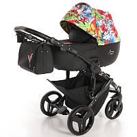 Детская коляска 2 в 1 Tako Junama Fashion Pro Jungle Черная 13-JFPJ, КОД: 287218