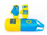 Боксерский набор Danko Toys Украина размер большой Синий с желтым 37-SAN005, КОД: 926100