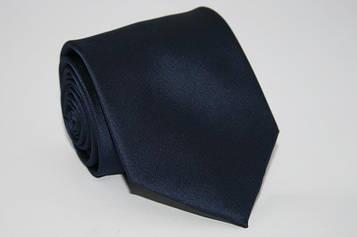 Галстук однотонный синийй 8,5 см.
