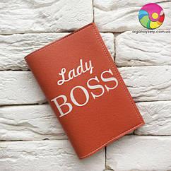 Обложка на паспорт Ledy Boss (красный)