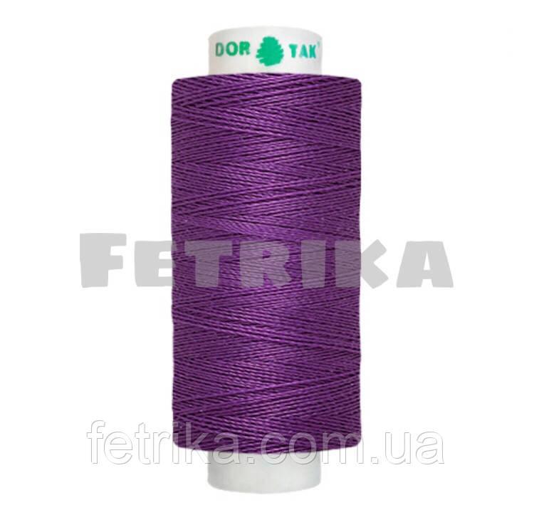Нитки швейные Dor Tak 40/2, Фиолетовый № 528, 400 ярдов