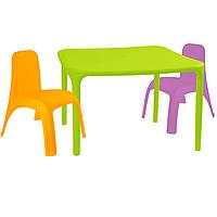 Детский стол для творчества + 2 стула Разноцветные 18-100-16, КОД: 1130269